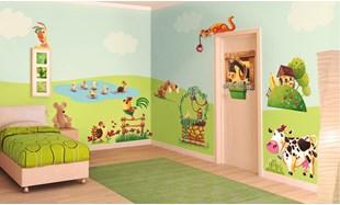 Adesivi murali per bambini stickers per camerette leostickers - Idee camerette per bambini ...
